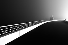 A nightmare on Elm Street (|MBS-..|) Tags: nikon 85mm lines bridge spooky d750 nightmare juamirah fog foggynight fineart fine art monochrome blackandwhite black white