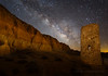 Water Tower and Milky Way (Jeffrey Sullivan) Tags: milky way night stone structure water tower abandoned cathedral gorge state park panaca nevada united states usa travel landscape nature photography canon eos 5d mark ii dslr digital camera photo copyright march 2015 jeff sullivan