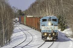 Job 2 at Bodfish (Thomas Coulombe) Tags: centralmainequebec cmq gmdsd402f emdsd402f sd402f job2 freighttrain train bodfish maine mooseheadsub winter snow