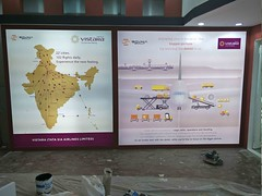 just about to complete the setup of Vistara, Sovika Group, Air Cargo India 2018 (aircargoindia) Tags: aircargo aviation logistics freight supplychain shipping