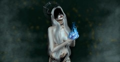 Witch (Luna Delacroix) Tags: witch photo photograph applier demon demonio second sl secondlife style tattoo tatuaje game goth gothic girl omega fire photoshop art magic bruja