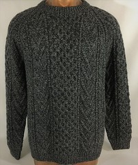 Aran charcoal fisherman wool sweater (Mytwist) Tags: charcoal grey tandun ireland 100 wool gray cableknit crewneck fisherman sweater tennesseebarrister aranstyle fashion retro knit design love passion gift cabled heritage donegal handgestrickt handknitted laine classic