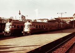 Turkey Railways - Izmir Basmane station - TCDD Class MT5500 Fiat diesel trains (HISTORICAL RAILWAY IMAGES) Tags: tcdd turkey train diesel fiat dmu izmir basamne smyrna explore