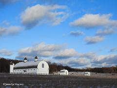 Winter Farm (JamesEyeViewPhotography) Tags: dh day farm barn winter snow sky trees clouds january nature sunrise landscape northernmichigan sleepingbeardunesnationallakeshore jameseyeviewphotography