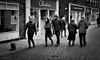 Sunday (DWTait) Tags: beverley england unitedkingdom gb monochrome bw shops pedestrians fujifilm x20