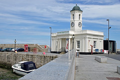 Tourist Information Centre, Margate, Kent, England (tosh123) Tags: margate thanet clock tower boat kent telephone coast lamppost touristinformation wall