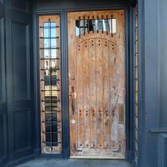 durable door (msdonnalee) Tags: door doorway entry entrance windowreflection window portal porta puerta porte tür woodendoor customdoor
