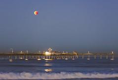 January 2018 Blue Moon Lunar Eclipse over the Ocean Beach Pier (slworking2) Tags: sandiego california unitedstates us lunar moon eclipse bloodmoon ob oceanbeach pier lunareclipse beach ocean pacific