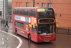 NXWM 4802 @ Moor STreet Queensway, Birmingham (ianjpoole) Tags: national express west midlands alexander dennis enviro 400 bx09pdz 4802 working route 16 upper dean street birmingham green lane hamstead