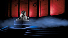 Llion Red & Blue.jpg (___INFINITY___) Tags: 2018 6d aberdeen bw godoxad360 toourgloriousdead architect architecture art blue building canon canon1740f4 color cowdrayhall darrenwright dazza1040 eos flash granite infinity light lightpainting lion magiclantern night red scotland sculpture statue stone strobist uk warmemorial wideangle