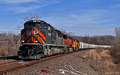 """Westbound Manifest in Muncie, KS (""""Righteous"""" Grant G.) Tags: wp western pacific up heritage unit west westbound emd power train trains manifest freight kansas city"""