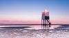 Burnham on Sea Lighthouse fresh start! (Nathan J Hammonds) Tags: lighthouse burnham sea morning sky coast beach tide nikon d750 uk england severn sunrise pink blue structure nd filter 10stop bw seascape landscape