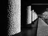 Barbican Center Columns (gregoirenoblot) Tags: barbican barbicancenter barbicanestate london architecture brutalism backandwhite monochrome contrast graphic perspective modernism concrete beton brut minimalism