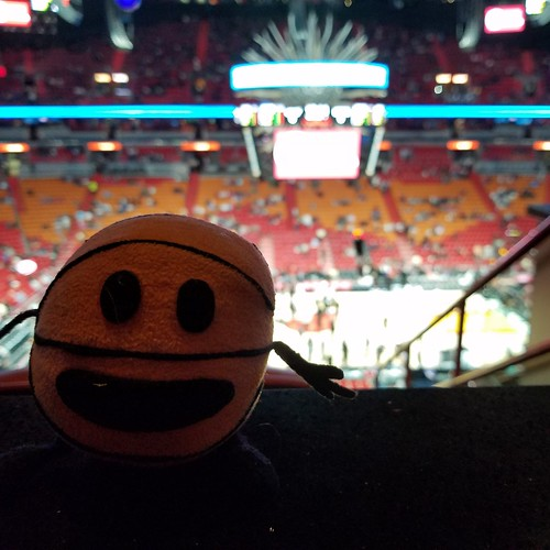 Bally at the Heat game
