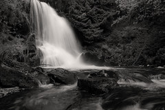 Norwegian nature (steffos1986) Tags: waterfall cascade river longexposure nature landscape nikond5500 afsnikkor18105vr blackwhite sephia monochrom gorge canyon norway norge norwegen noruega hike trekking track trail
