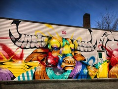 Stare down (Pennan_Brae) Tags: colourful vancouver yvr vancity graffitiartist streetartistry graffitiart streetartist 604 streetart