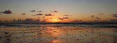 Henne Strand (ASRDK) Tags: sunset sonnenuntergang solnedgang hennestrand nordsøen himmel sky clouds skyer sea beach strand reflection spejling northsea vesterhavet seaside landscape shore kyst coast water ocean hav