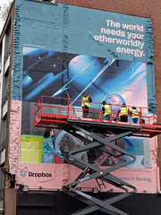 Painting of commercial mural (Jimmy Svensson) Tags: commercial mural painting painter london uk greatbritain dropbox gh5 lumixgh5