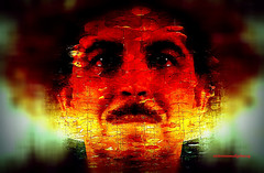 WHEN THE SOUL IS SUFFERING. Abstract Version. (Viktor Manuel 990.) Tags: portrait retrato abstract abstracto digitalart artedigital textures texturas querétaro méxico victormanuelgómezg selfie painting pintura