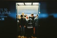 Do not obstruct the doors (chrissison) Tags: yashicat5 kodak400 london filmphotography filmisnotdead tatemodern shard britishmuseum