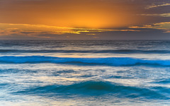 Sunrise Seascape (Merrillie) Tags: daybreak wamberalbeach sunrise cloudy australia surf centralcoast wamberal morning newsouthwales waves earlymorning nsw sea beach ocean nature landscape sky coastal waterscape outdoors seascape clouds coast water dawn