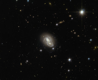 Two Galaxies Passing in the Night