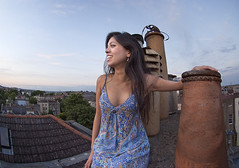 Up on the roof (jonathan charles photo) Tags: portrait roof sunset beauty confidence art photo jonathan charles