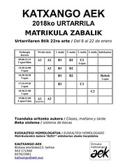 Kaltxango AEK-k ezagutzera eman dituen aukerak eta taldeak