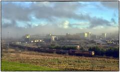 Clearing Mist (Welsh Gold) Tags: 66103 6o10 coal train unloading gwaun cae gurwen open pit onllwyn washery seven sisters dulais southwales