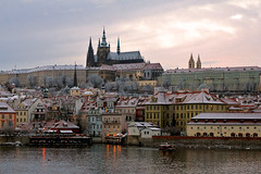 Prague (Daniel Nebreda Lucea) Tags: prague praga city ciudad old vieja antigua castle castillo travel viajar europe chequia recha republica street calle urban urbano history historia river rio bridge puente light luz sky cielo couds nubes panorama panoramica houses casas architecture arquitectura beautifu bonita bella lights luces canon 50mm 60d composition composicion water agua reflection reflejo town pueblo snow nieve winter invierno art church iglesia cathedral catedral