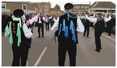 Morris dancers (ec1jack) Tags: kierankelly ec1jack cambridgeshire england britain uk europe fens eastanglia strawbear festival traditions january 2018 morrisdancing parade canoneos600d whittlesea whittlsey peterborough ploughsunday events whittlesey
