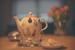 Cozyness (VintageLensLover (OFF FOR A WHILE)) Tags: teekanne stillleben bokeh schärfeverlauf schärfentiefe dof gemütlichkeit teatime minolta rokkor 50mm12