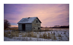 Shedding some light (VanveenJF) Tags: shed barn old wood winter alberta field farmer