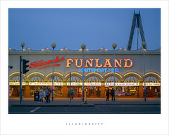 Illuminosity (Parallax Corporation) Tags: silcocks funland southport arcade amusements lights dusk red neon seaside