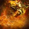 Bernie Tuffs - Flight of the Fire Maiden (Bernie Tuffs - Digital Artist) Tags: dragon fractals fire hot warmth flames woman flight fly kaizen