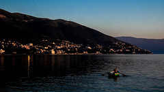 Lone fisherman, Albania (loic_lnlg) Tags: albania see sun sunset water sky coast balkans boat colors color colour