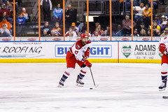 "Kansas City Mavericks vs. Allen Americans, February 24, 2018, Silverstein Eye Centers Arena, Independence, Missouri.  Photo: © John Howe / Howe Creative Photography, all rights reserved 2018 • <a style=""font-size:0.8em;"" href=""http://www.flickr.com/photos/134016632@N02/39790790804/"" target=""_blank"">View on Flickr</a>"