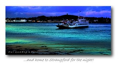 ... and home to Strangford for the night! (Oul Gundog) Tags: strangford ferry northern ireland co down ulster uk water sky home transport sunset night fery boats lough