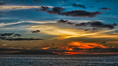 El Hierro (Jörg Bergmann) Tags: 35100mmf456 elhierro islascanarias lagomera puestadesol vallegranrey atardecer canarias canaryislands clouds españa gm1 gomera light lumix m43 mft panasonic sky spain sun sunburst sunset travel vacation seascape landscape horizon