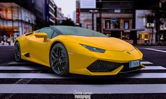 Lamborghini Composition (christian_lawrence) Tags: lamborghini huracan supercare photoshop composition yellow car street scene