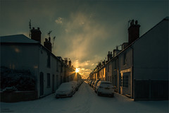 []___[] (Kevin HARWIN) Tags: buildings house cars snow winter cold white sunrise sun cloud sky orange canon eos 70d sigma 1020mm lens whitstable kent south east uk england britain bubble