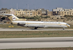 5A-DIH (QC PHOTOGRAPHY) Tags: malta luqa september 22nd 2004 libyan arab airlines b727200 5adih