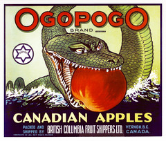Ogopogo, Okanagan Lake Monster -- 1930s (JFGryphon) Tags: ogopogo vernonbritishcolumbia appleboxlabel 1930s okanaganlake monster josephemontague jemontague josephegbertmontague britishcolumbiafruitshippersltd apples 1928 anappleaday oggy lakemonster serpentlike faunafolklore strangemyths legends oraltradition naitaka seaserpent waterspirit legend lakedemon applecrate canadianapples intergalacticsnack ogi n'haaitk spiritofthelake
