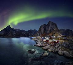 Aurora Borealis (tothfrantisek) Tags: auroraborealis northernlights norway landscape nightscape cottage sea top20aurora
