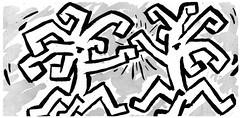 Fight ! (Kimoufli) Tags: gravure art artiste photodart oeuvre noiretblanc blackandwhite monochrome artplastique visuel fight académie académiedesbeauxarts beauxarts artistique