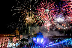 Fireworks night (pt.2) (-Chiallonz) Tags: fireworks santagata catania sicilia fuochi notte night sky skyporn nikon neon lights