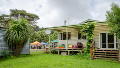 Volunteer accommodation (Kathrin & Stefan) Tags: building cloud nature outdoor people stall aucklandwaitakere northisland newzealand