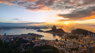 As the sun says 'Good Morning, Rio!' @Mirante Dona Marta, Rio de Janeiro, Brazil