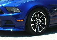 Blue (jHc__johart) Tags: wheel tire fordmustang auto automobile blue