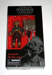 star wars the black series 6 inch action figure #49 maz kanata the last jedi red and black packaging hasbro 2017 misb a (tjparkside) Tags: maz kanata star wars black series 2017 tbs 6 six inch inches basic action figure figures last jedi tlj episode 8 eight viii tfa force awakens vii 7 seven blaster blasters pistol rifle weapon weapons chest lightsaber hilt glasses goggles resistance hasbro 49 red packaging misb